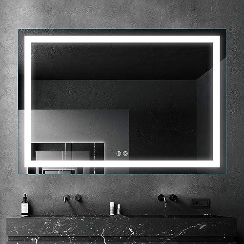 sunzoom 48 x 36 Inch LED Bathroom Makeup Vanity Mirror
