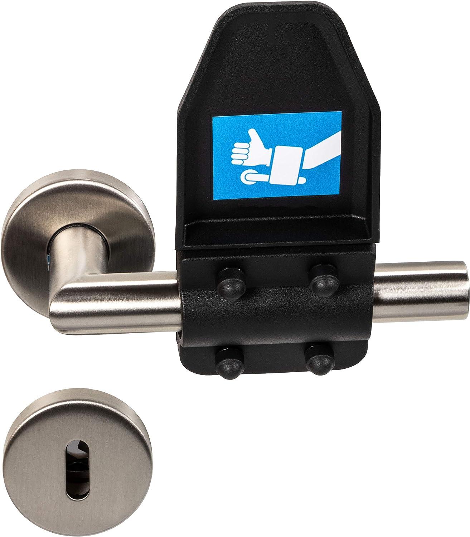 Gedotec Dr/ückergarnitur Klinken-Aufsatz f/ür den Unterarm 1 St/ück Hygiene-Schutz f/ür T/ürgriffe /& T/ürdr/ücker HAND-HELD Handgriff zum /Öffnen /& Schlie/ßen von T/üren Kunststoff schwarz matt