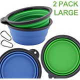 Roysili Collapsible Dog Bowl, FDA Approved BPA Free Silicone Travel Bowl for Dog Cat Food & Water, Silicone Dog Bowl Free Carabiner