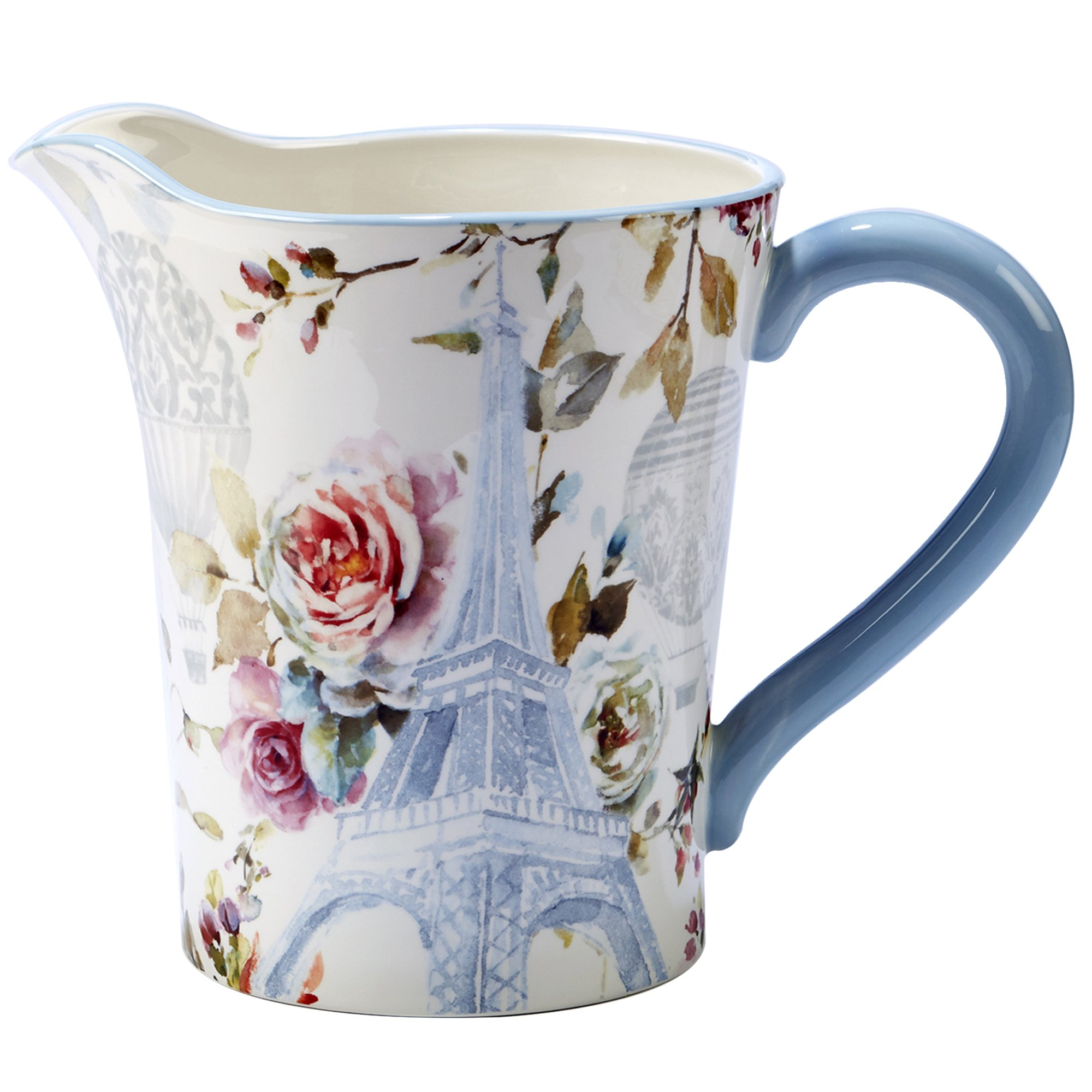 Certified International 23581 Beautiful Romance Ceramic Pitcher, One Size/3.5 quart, Multicolor