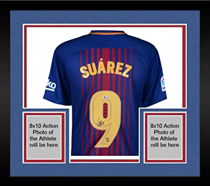 aa20dfffbbe Framed Luis Suarez Barcelona Autographed Nike Home Jersey - Fanatics  Authentic Certified - Autographed Soccer Jerseys at Amazon s Sports  Collectibles Store