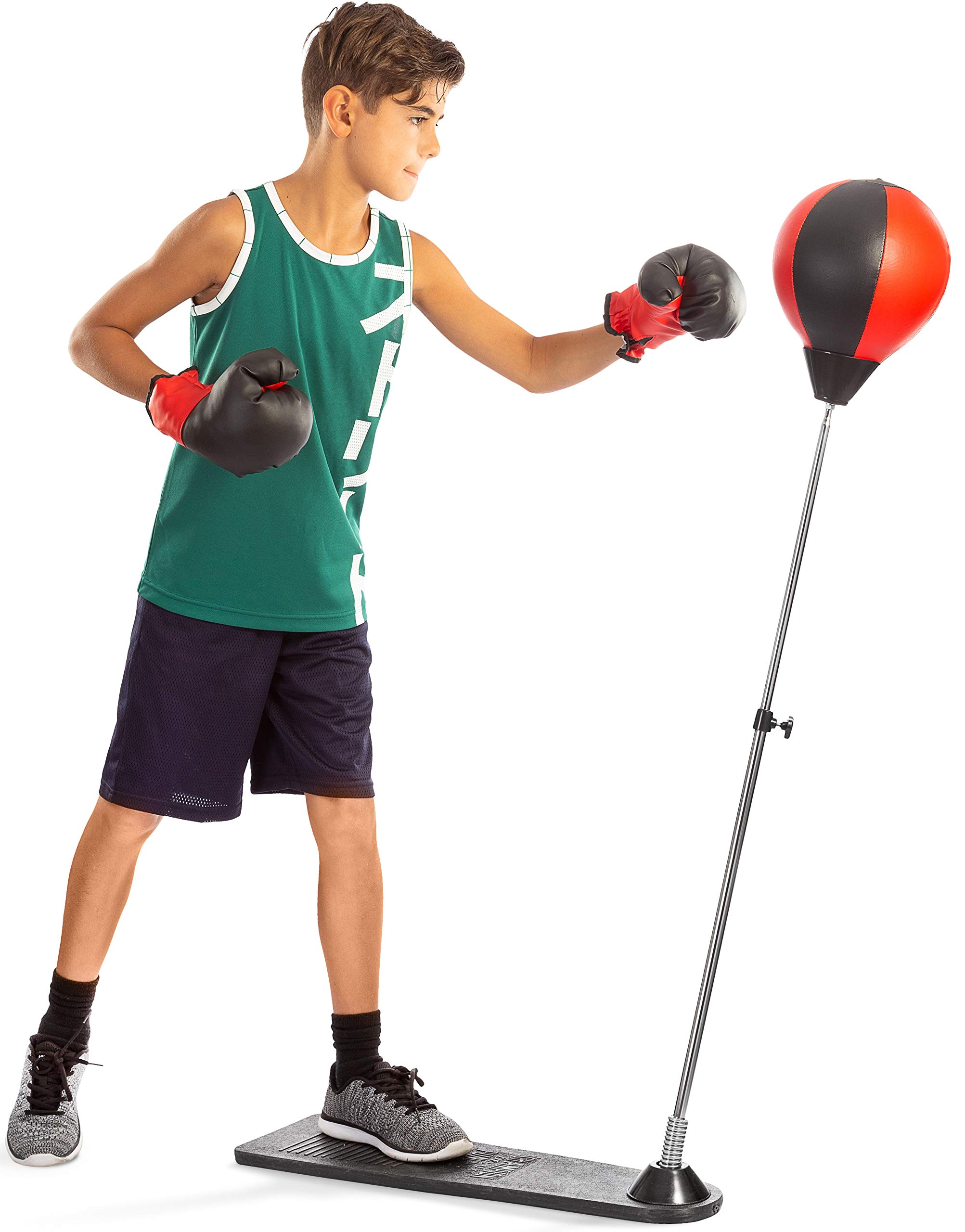 Punching Ball with Stand and Gloves - Height Adjustable - Great Exercise & Fun Activity for Kids by TechTools by Tech Tools