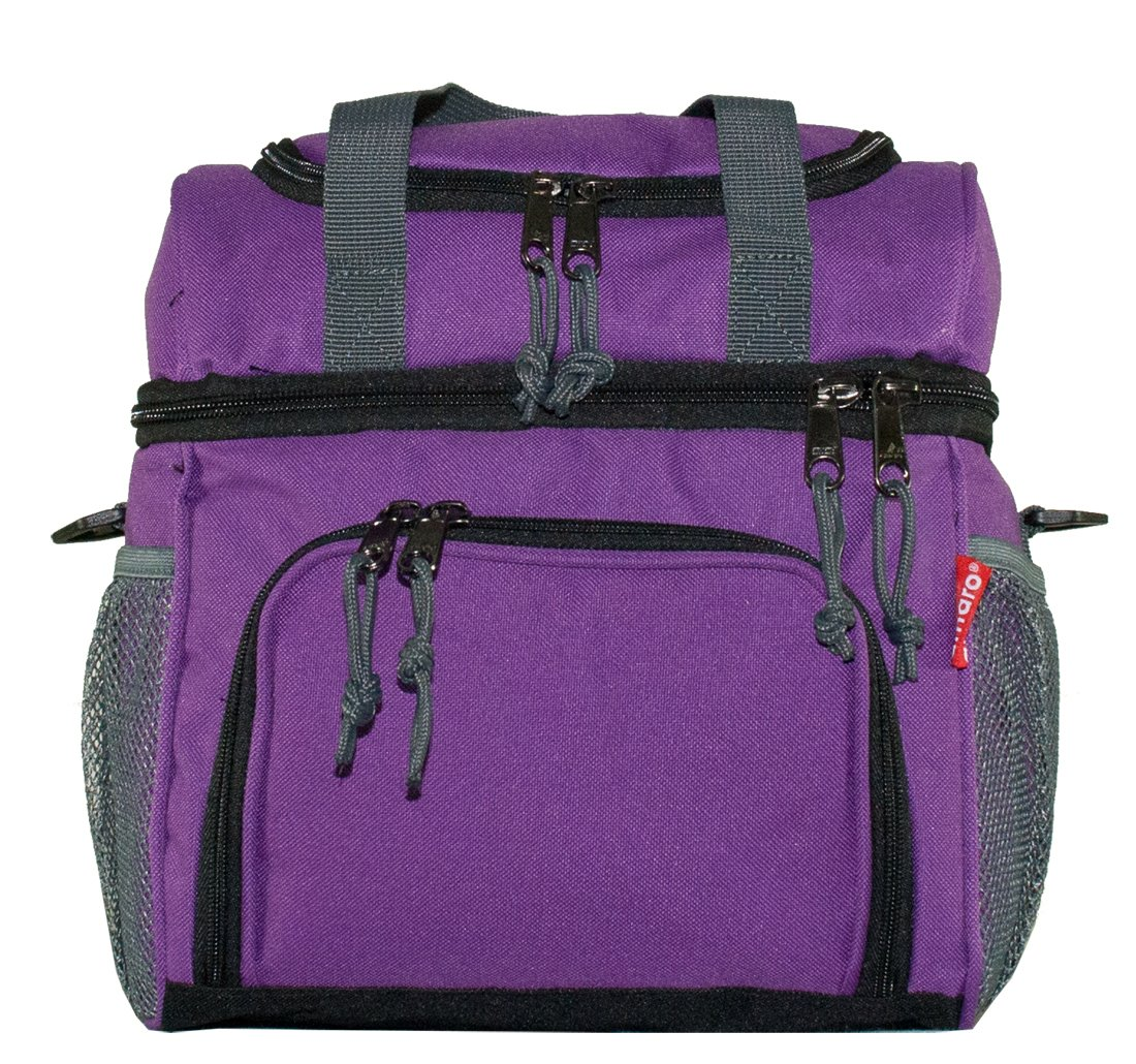 Amaro Durable Delux Insulated Lunch Cooler Bag, One Size Purple