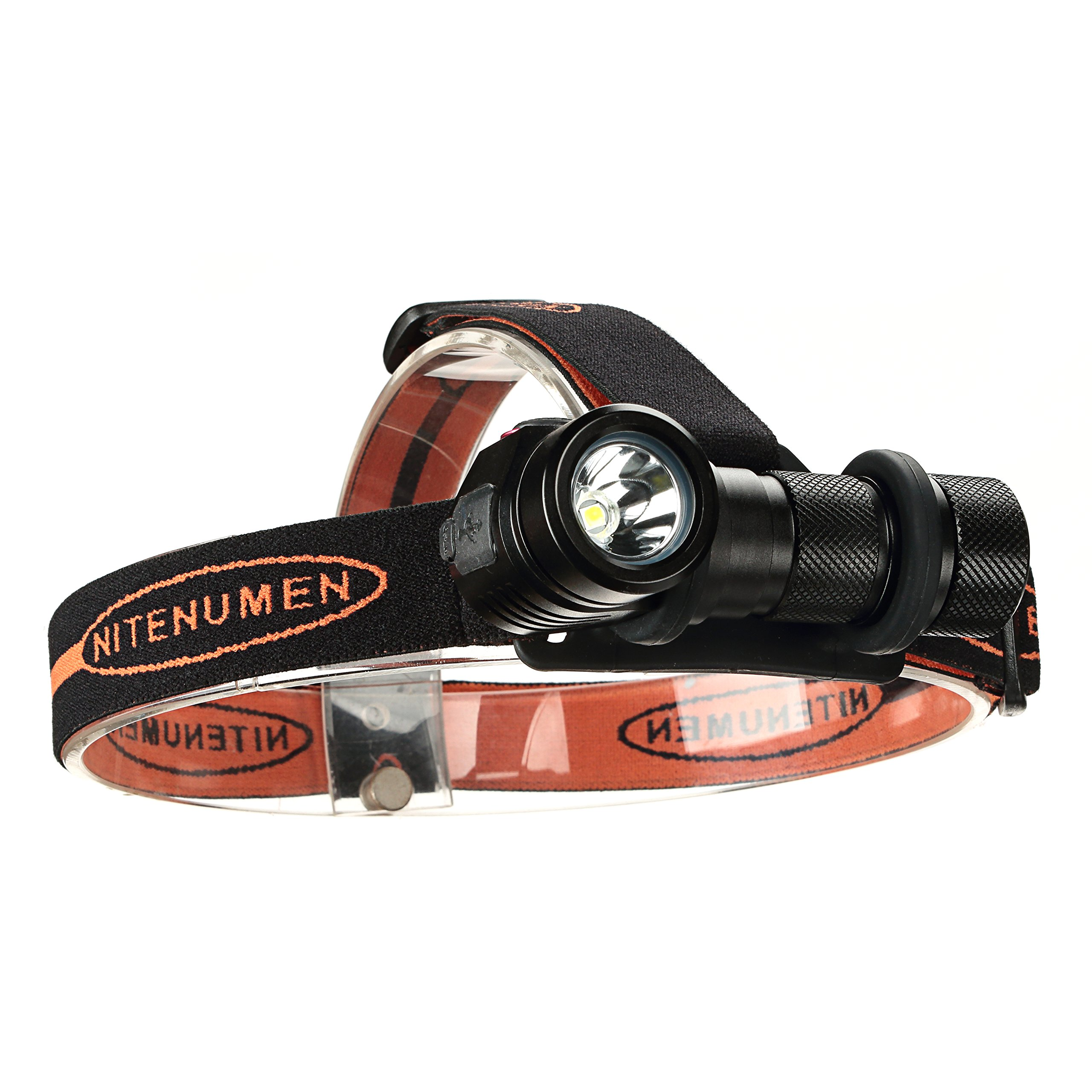 USB Rechargeable Headlamp,CREE XP-L V5 LED Super Bright LED Headlamp with Rechargeable 18650 Batteries-nitenumen H01 by NITENUMEN (Image #3)
