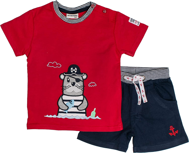 Salt /& Pepper Baby Boys Set Piraten Robbe Uni Clothing