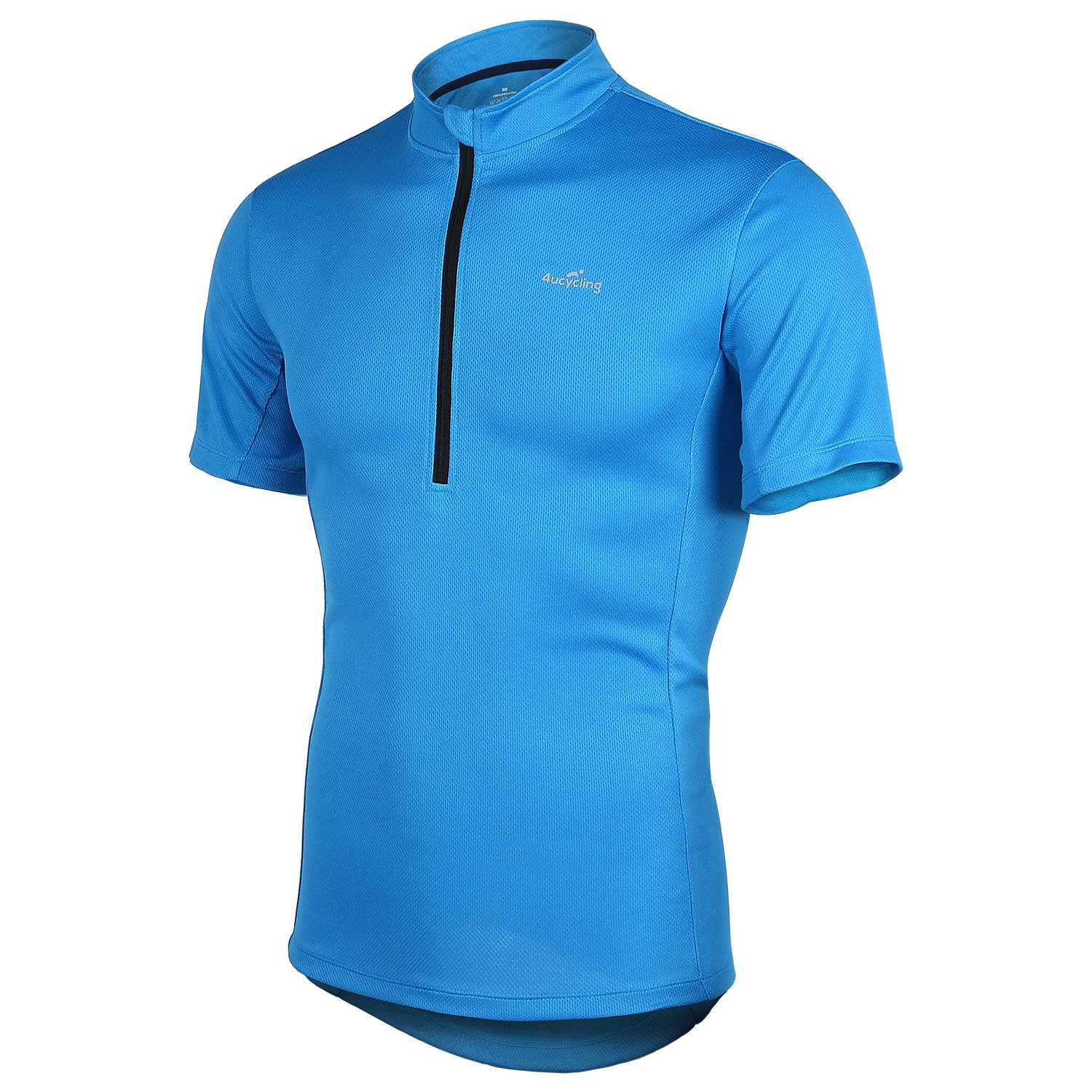 Short Sleeve Cycling Jersey Men's Quick Dry Basic Shirts Blue M
