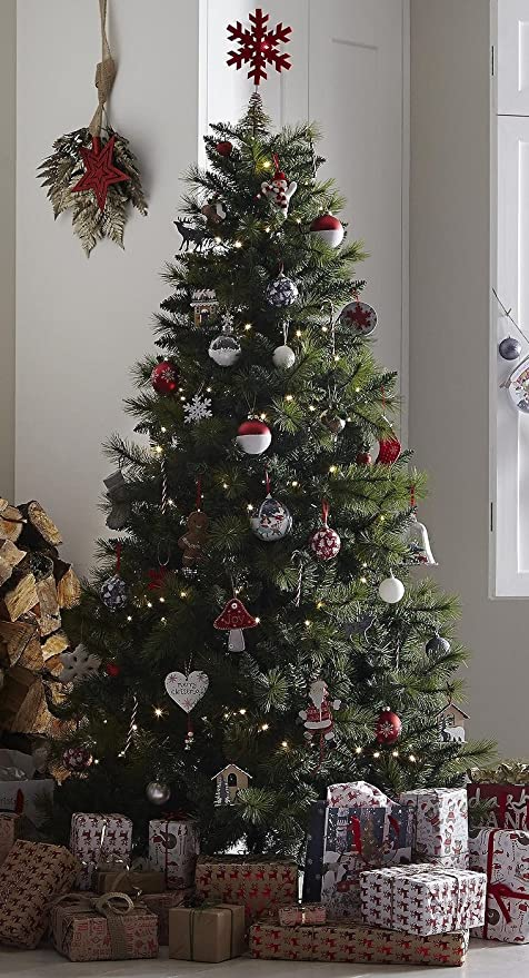 Tesco 7ft Colorado Pine Christmas Tree - Green - Tesco 7ft Colorado Pine Christmas Tree - Green: Amazon.co.uk