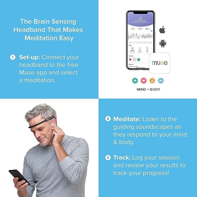 MUSE 2 The Brain Sensing Headband - Meditation Tracker