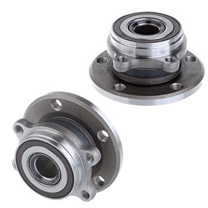 Amazon.com: OCPTY Wheel Hub Bearings Front Rear 5 Lugs w/ABS Compatible for Audi A3 Volkswagen Jetta Golf Rabbit 2006-2009 with OE 513253 (Pack of 2): ...