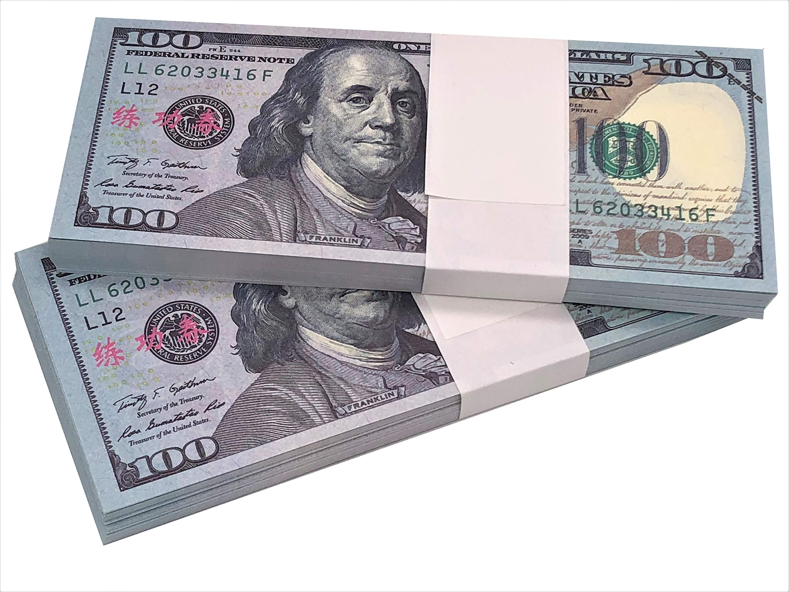 Ship from US Prop Money Full Print 2 Side Motion Picture Money Dollar Bills Copy Money Play Money Realistic Money Stacks for Kids, Students, Movie, Birthday Party, TV by YLIKE