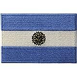 La Bandera Nacional De Argentina Bordó El Emblema Argentino Del Estado El Hierro Cosió En El