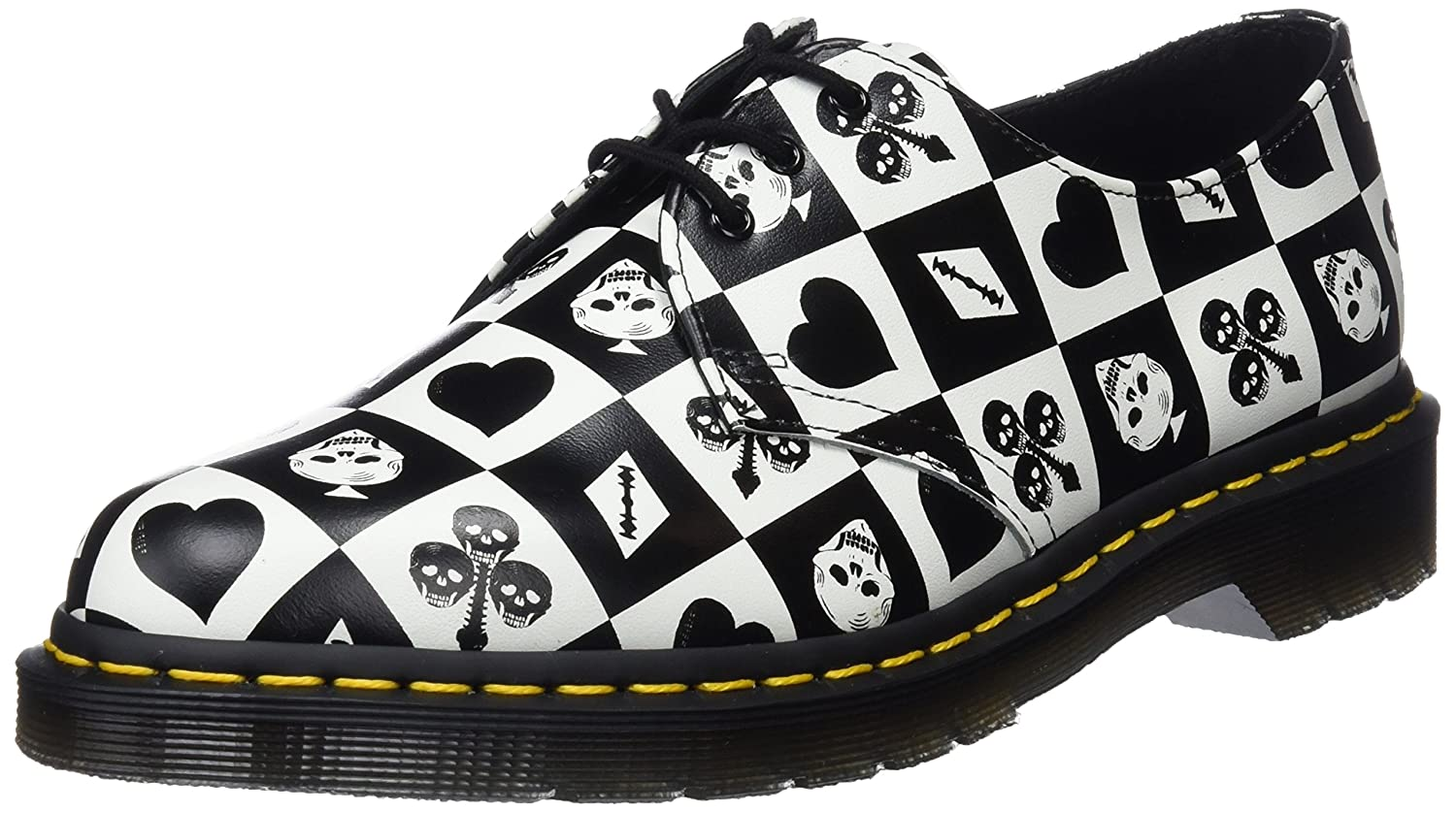 MultiCouleure (Egret Playing Card Print 112) Dr. Martens 1461, Derby Mixte Adulte