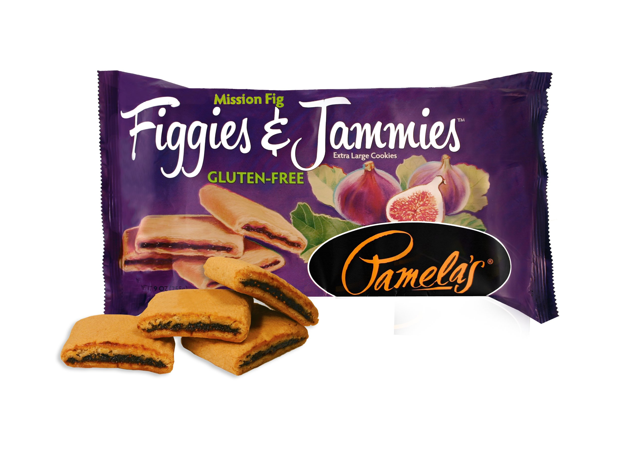 Pamela's Products Gluten Free Figgies & Jammies Cookies, Mission Fig, 9 Ounce (Pack of 6)