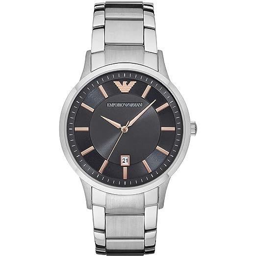 e08a014c2452 Armani intercambio ax1189 rojo silicona pulsera reloj para hombre   Amazon.es  Relojes