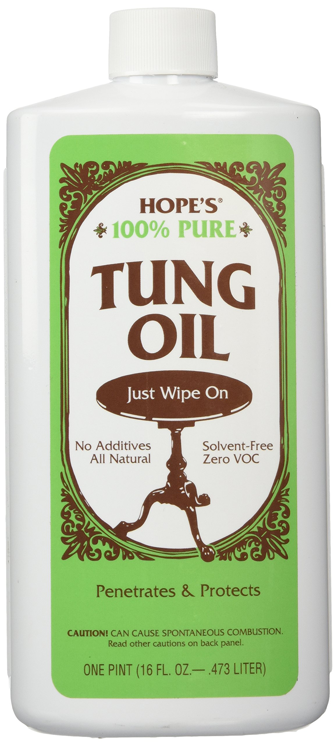 HOPE'S 100% Tung Oil 16 oz - Pt. by HOPE'S (Image #1)