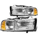 Pair of OE Replacement Headlight + Corner Light for Dodge Ram BR/BE w/o Sport