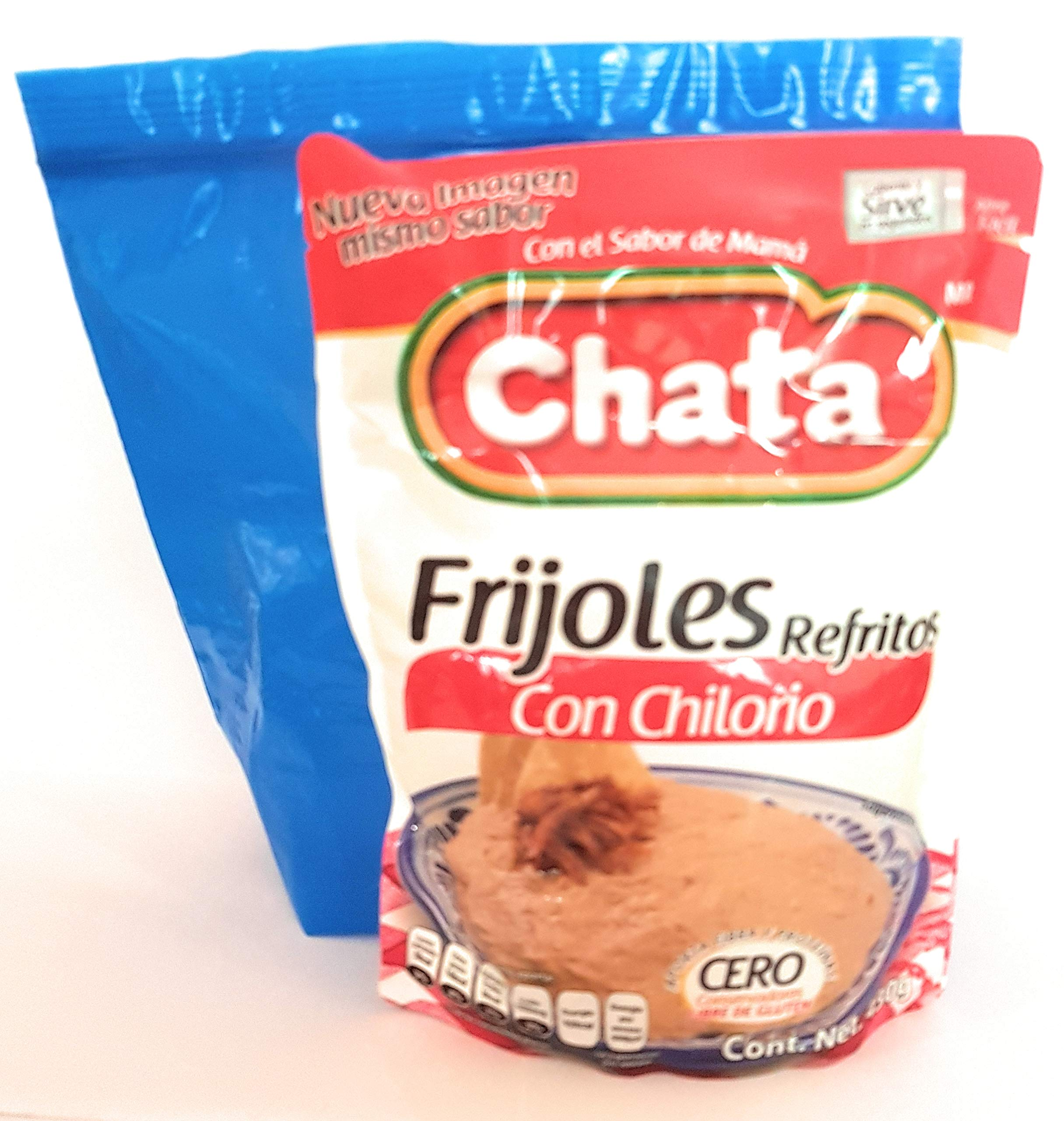 Chata Frijoles Refritos con Chilorio (Pack of 2) and Tesadorz Resealable Bags