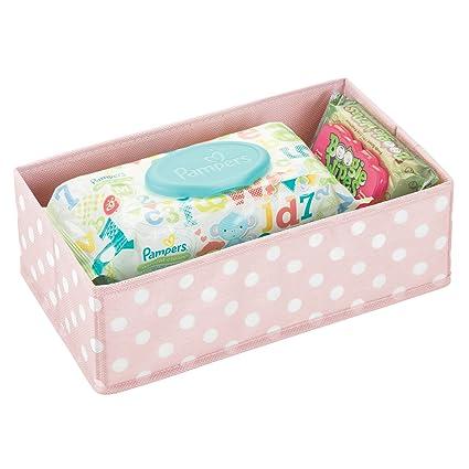mDesign Caja de almacenaje para habitación infantil o baño – Cesta organizadora para el cuarto de