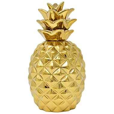 Gift Boutique 9  Gold Pineapple Showpiece Beautifully Sculpted with Realistic Detail, Metallic Gold