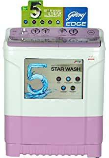 Godrej WS Edge 700 CT Semi automatic Top loading Washing Machine  7 Kg, Lavender  Washing Machines   Dryers