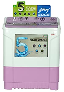 Godrej WS Edge 700 CT Semi-automatic Top-loading Washing Machine (7 Kg, Lavender)