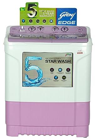 godrej ws edge 700 ct semi-automatic top-loading washing machine (7 kg,  lavender): amazon in: home & kitchen