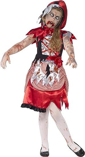 Smiffys-44285M Disfraz de Chica de la caperuza Zombi, con ...
