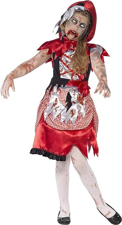 Smiffys-44285m Disfraz de Chica de la caperuza Zombi, con Vestido y Capa con Capucha, Color Rojo, M-Edad 7-9 años (SmiffyS 44285M): Smiffys: Amazon.es: Juguetes y juegos