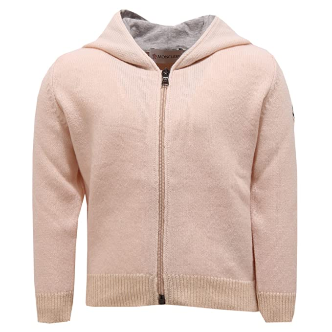 finest selection 69f9b f44d2 Moncler Moncler 2479V Maglione Bimbo Lana pink Wool Full Zip ...
