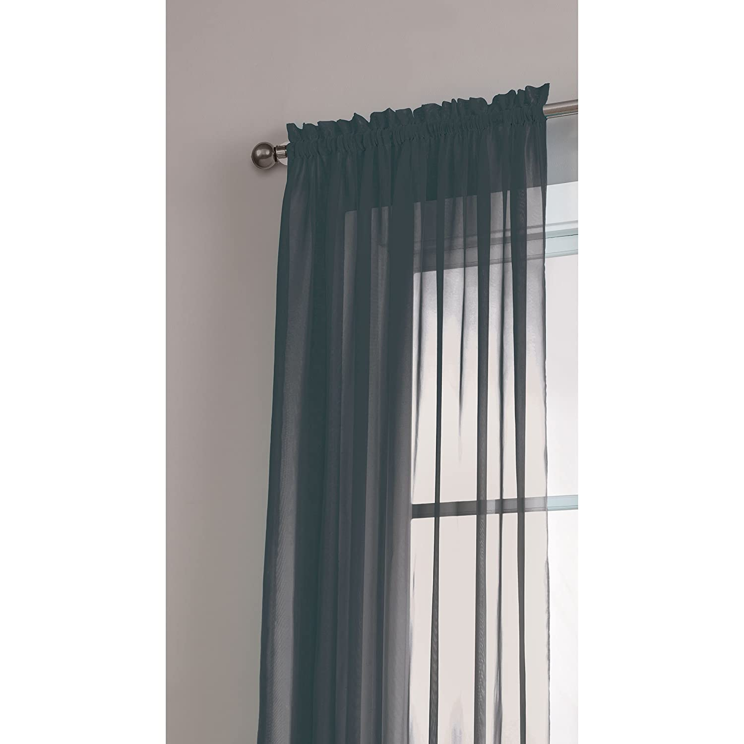 Window Elements Diamond Sheer Voile Extra Wide 112 X 84 In Rod