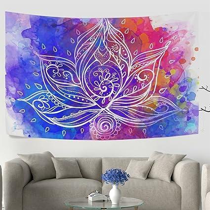 Amazoncom Welllee Ornamental Boho Style Lotus Flower Geometric