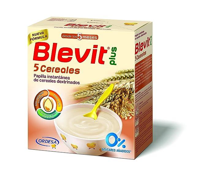 Blevit Plus 5 Cereales para bebé - 4 de 300 gr. (Total 1200 gr