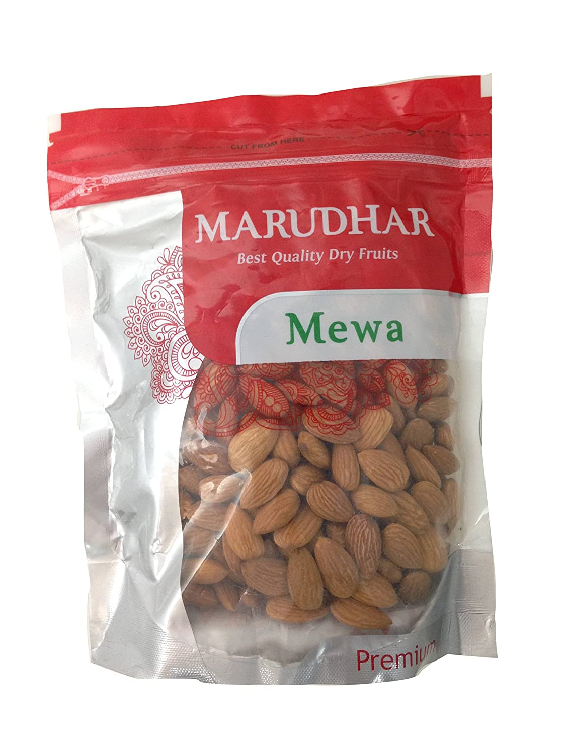 Marudhar Mewa Dry Fruits - Almonds, 500g Pack: Amazon in