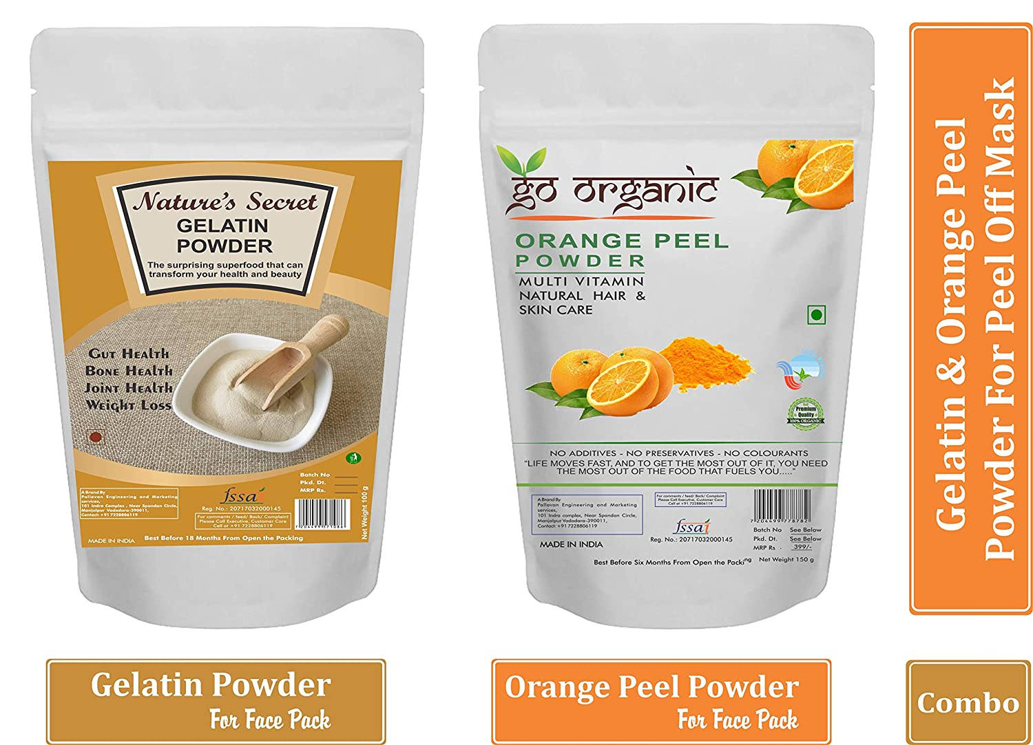Buy Go Organic & Nature's Secret Gelatin Powder for DIY Peel off mask (100g) Online at Low Prices in India - Amazon.in