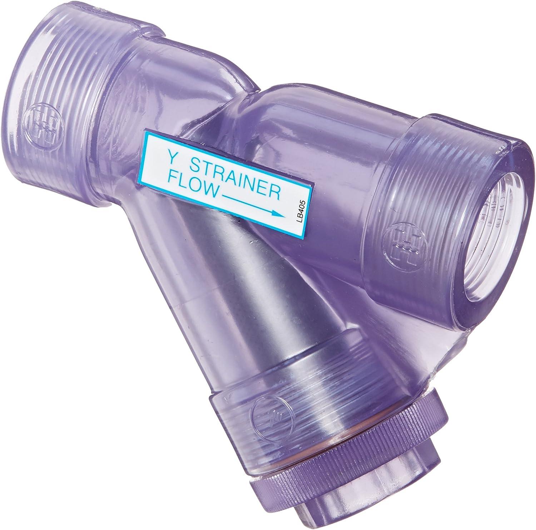 Hayward YS00100T 1-Inch Threaded Clear PVC Y-Strainer with FPM O-ring Seals Hayward Distribution