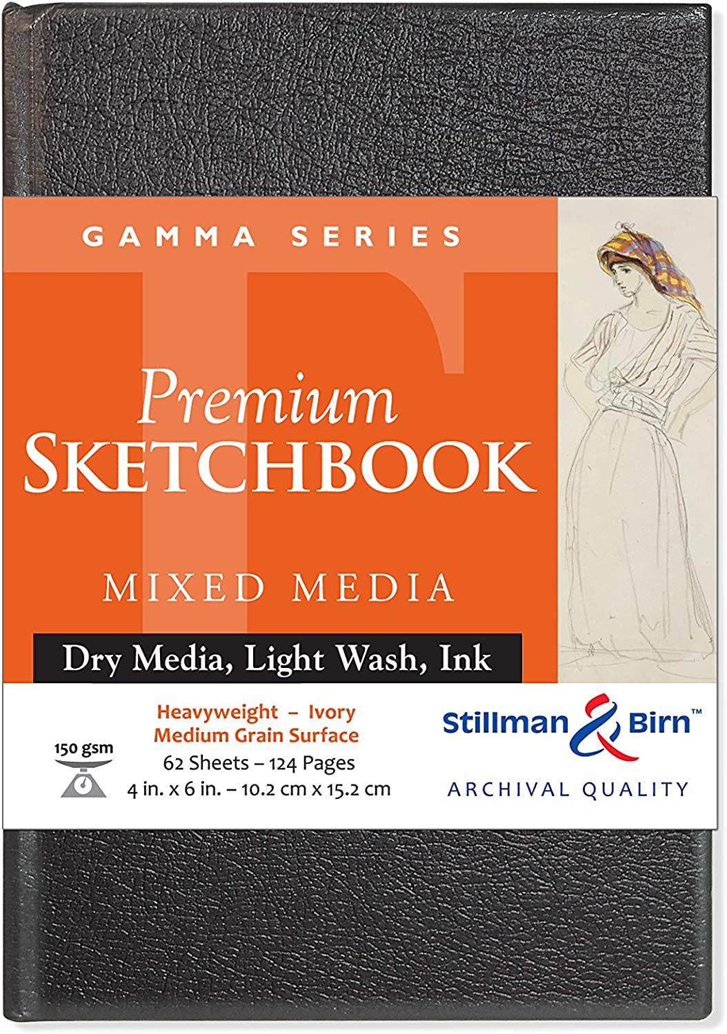 "Stillman /& Birn Premium Mixed Media Sketchbook Gamma 62 Sheet 5.5x8.5/"" Hardbound"