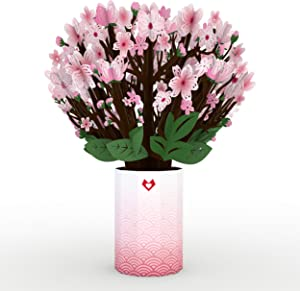 Lovepop Cherry Blossom Bouquet - Pop Up Flowers, Valentine's Day Card, Birthday Pop Up Card, Anniversary Card, Card for Wife, Card for Mom, Mother's Day Card, Flower Bouquet