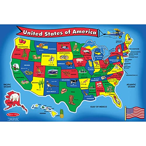 Learn /& Climb Electronic Kids Map of the United States - 500 Facts ...