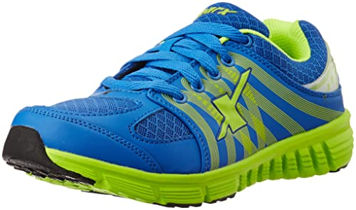 a7e012d8dd31 Sparx Men s Sky Blue and Fluorescent Green Running Shoes - 6 UK India (40