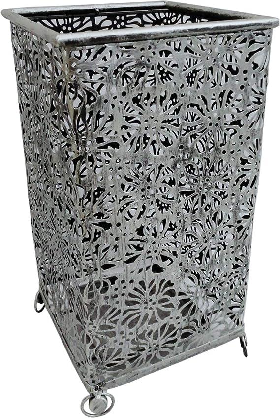 Rustiluz Paragüero de forja Plata I Modelo: 0821830 I Paragüero Decorativo, Medida 24 x 24 x 44 cm. I Paragüero económico: Amazon.es: Hogar