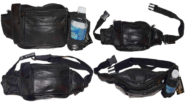 60%OFF Waist pouch. Leather waist pouch bottle holder, leather zip Fanny pack Waist Bag
