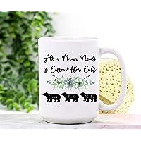 Tea Mug, Mama Bear Mug Personalized Mama Bear Coffee Mug Mama Bear Mother's Day Mama Bear Cubs Mama Mug Mama Gifts Mama 15Oz Large Mug