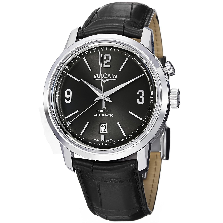 Vulcain 50s President 'sメンズブラックダイヤル自動アラーム腕時計210150.278lf B008LVL0QS