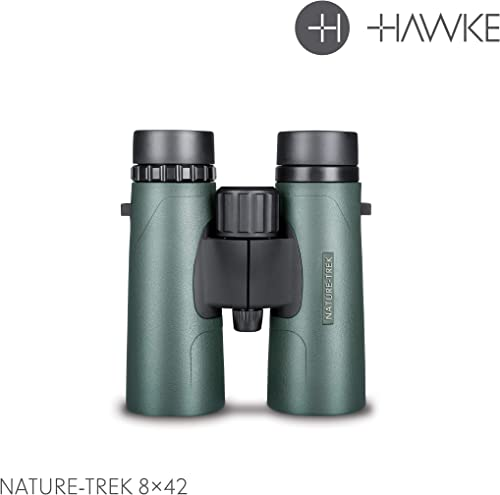 HAWKE 35102 Nature-Trek Binoculars, Green, 8 x 42
