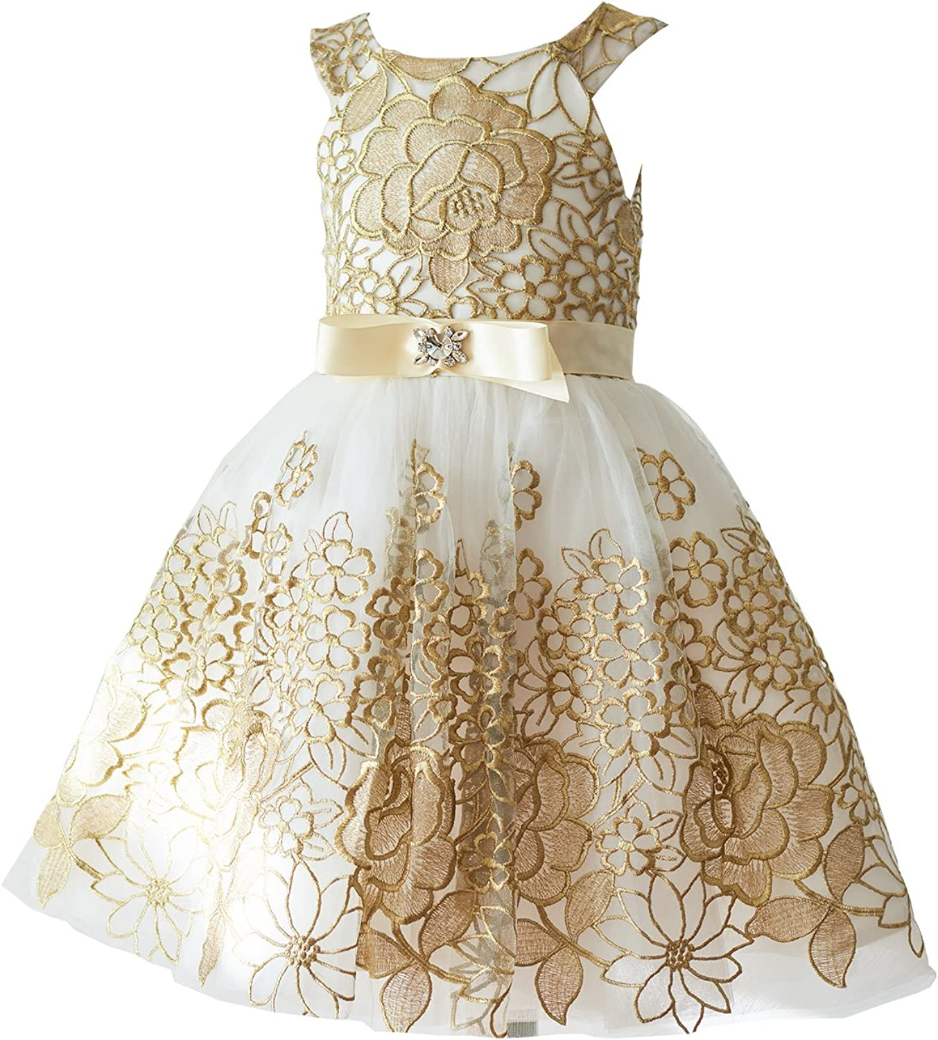 Miama Gold Lace Tulle Wedding Flower