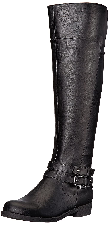 LifeStride Women's Delilah Equestrian Boot B075G6N1L8 6 B(M) US|Black