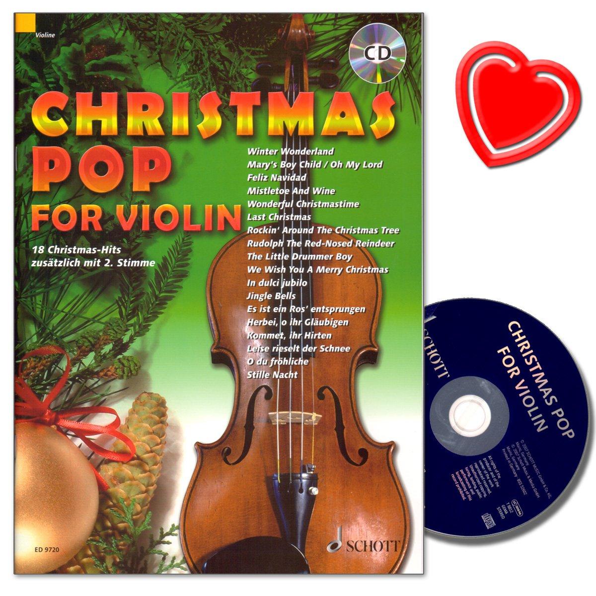 Christmas Pop for Violin: 18 Christmas-Hits für 1-2 Violine mit CD ...