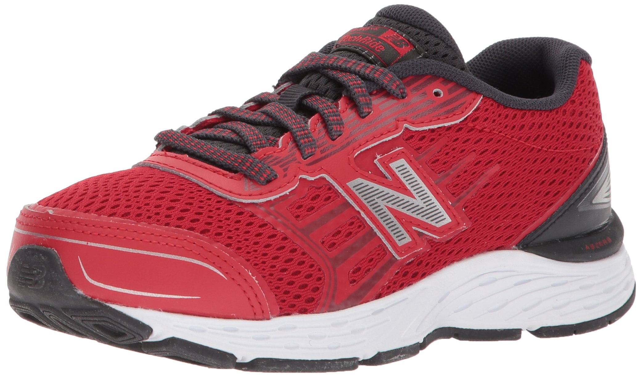 New Balance Boys' 680v5 Running Shoe, Team Red/Phantom, 4 M US Big Kid