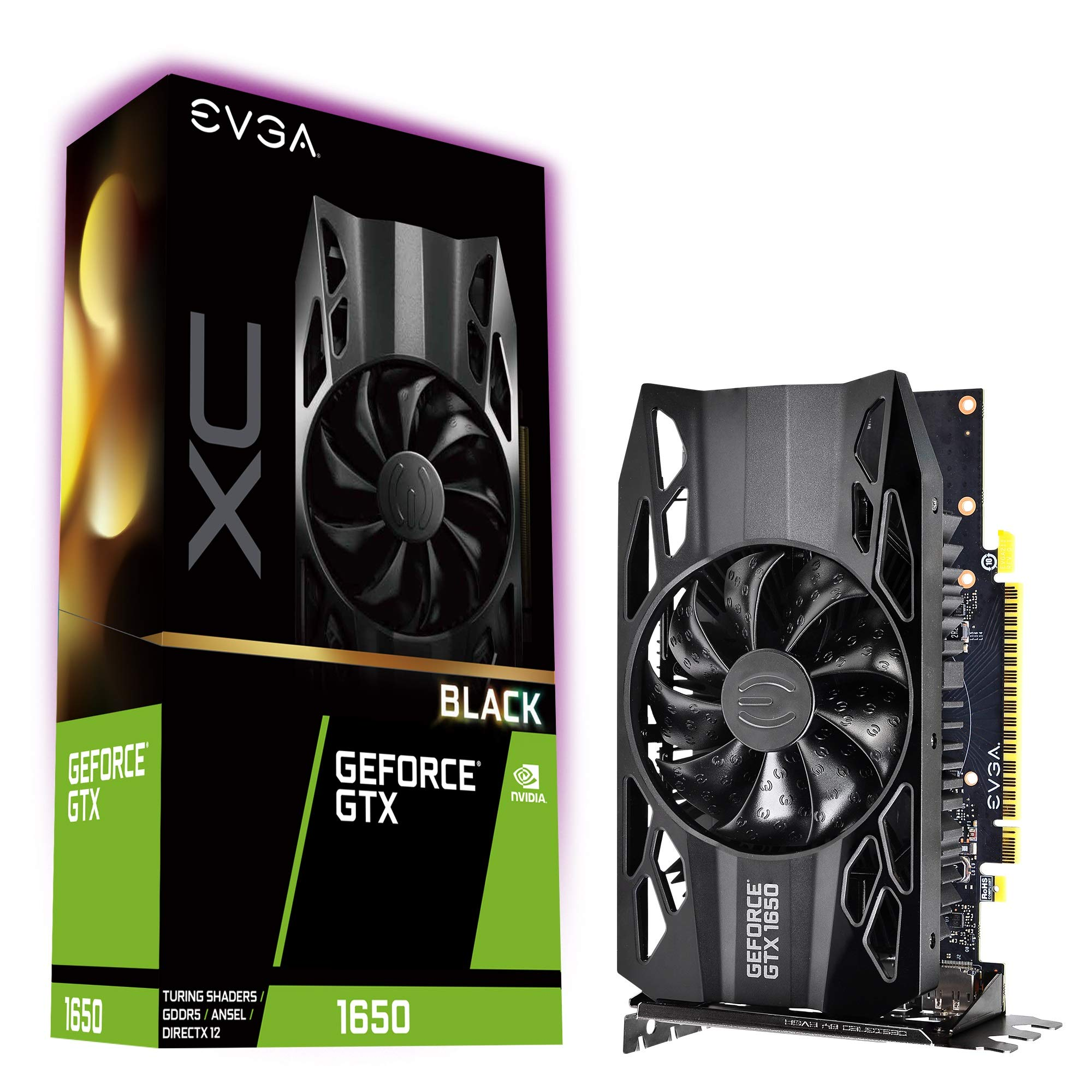 EVGA GeForce GTX 1650 XC Black Gaming, 4GB GDDR5, 04G-P4-1151-KR by EVGA