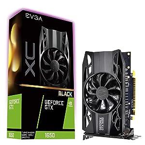 EVGA GeForce GTX 1650 XC Black Gaming, 4GB GDDR5, 04G-P4-1151-KR